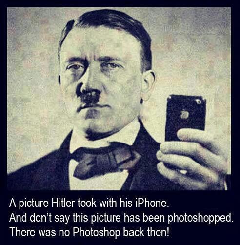 Hitler Dengan iphone